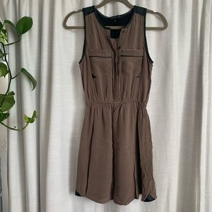 Silk and Leather dress